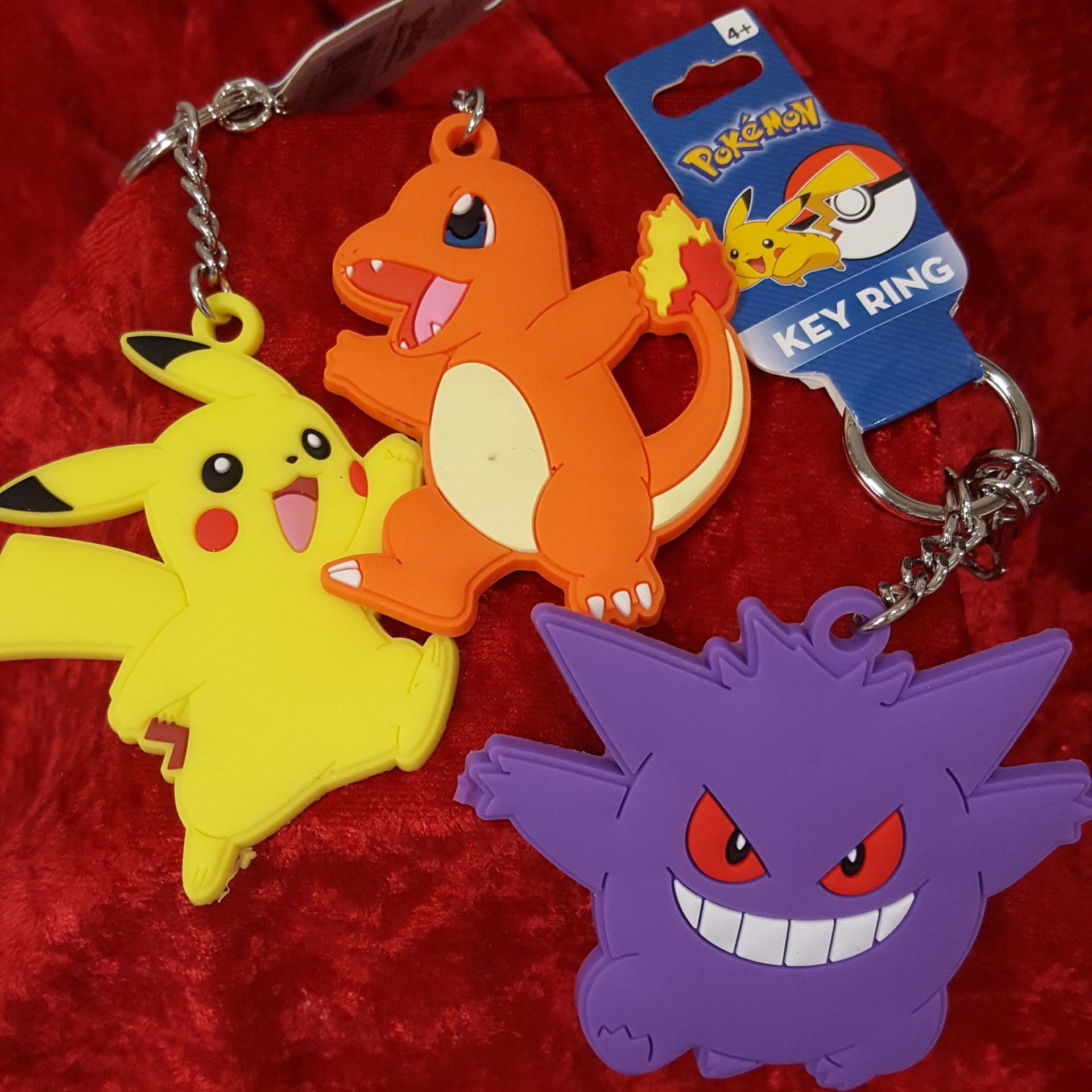 Pokemon Keychain w/3 Dangles