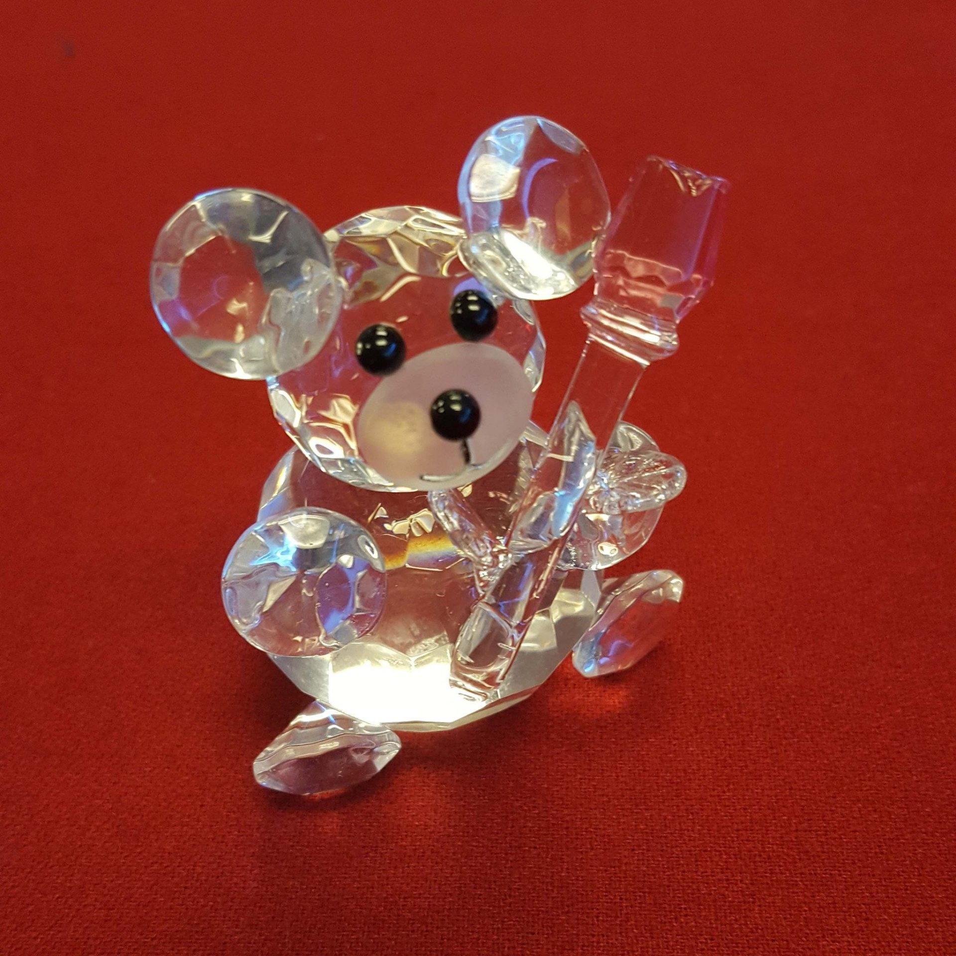 Crystal Bear with Rose