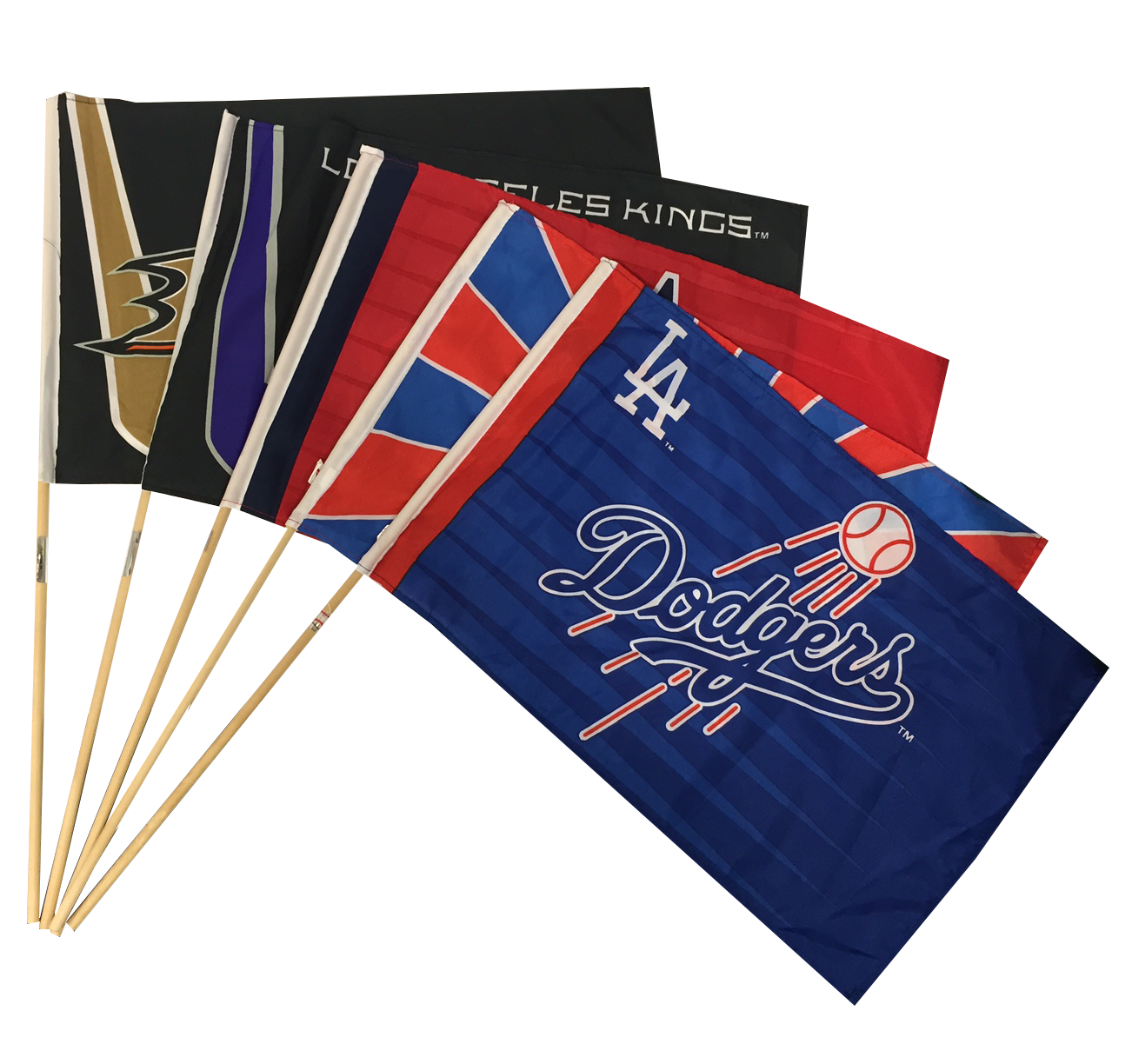 Sport Team Flags on Stick