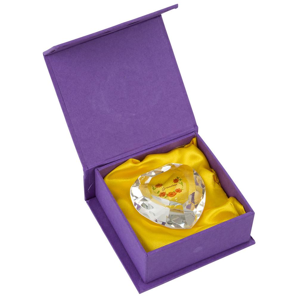 Grandma Heart Diamond Purple Box