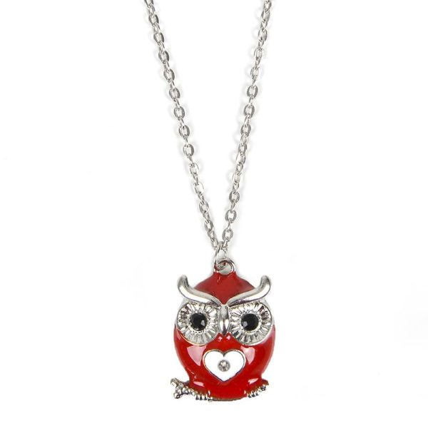 Owl Necklace in Owl Box