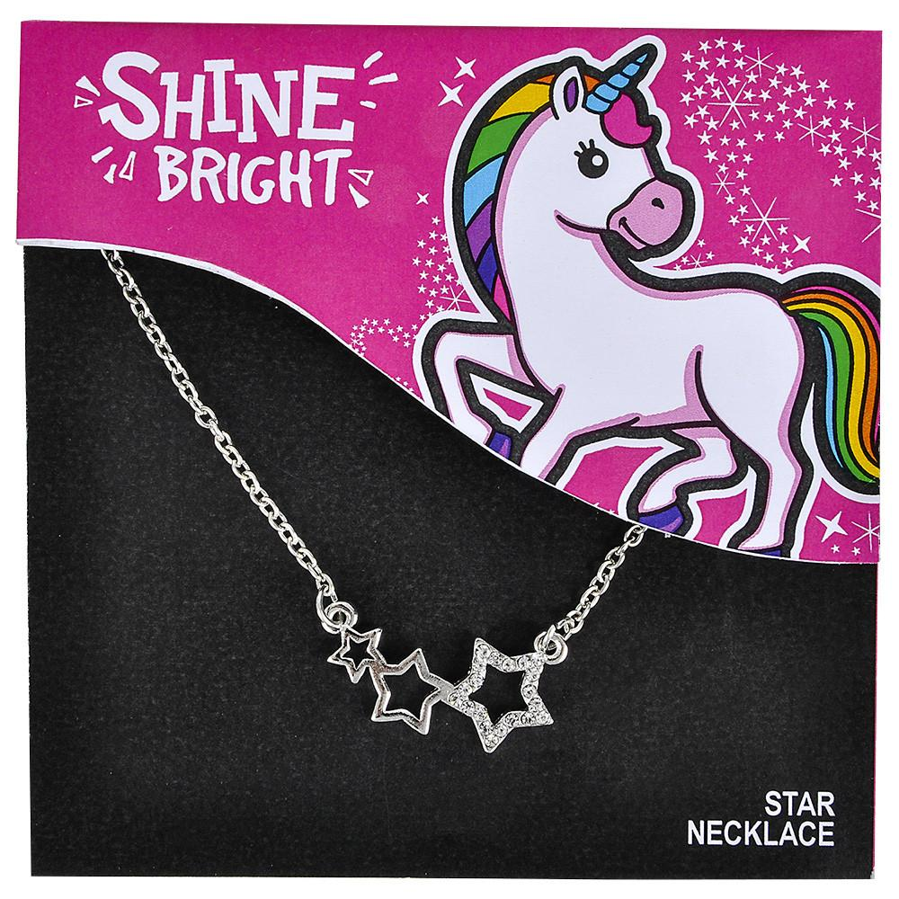 Stars Necklace on Card